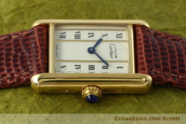 Used luxury watch Cartier Tank silver-gilt quartz Kal. 057  | 152705 05