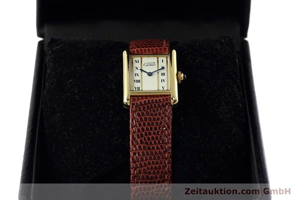 Used luxury watch Cartier Tank silver-gilt quartz Kal. 057  | 152705 07