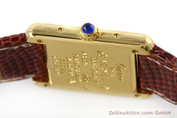 Used luxury watch Cartier Tank silver-gilt quartz Kal. 057  | 152705 08