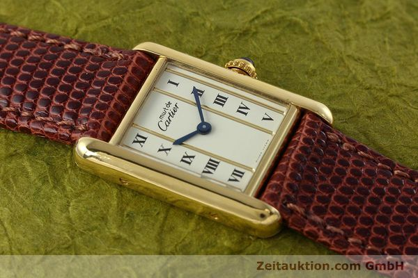 Used luxury watch Cartier Tank silver-gilt quartz Kal. 057  | 152705 11