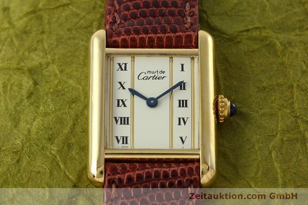 Used luxury watch Cartier Tank silver-gilt quartz Kal. 057  | 152705 12