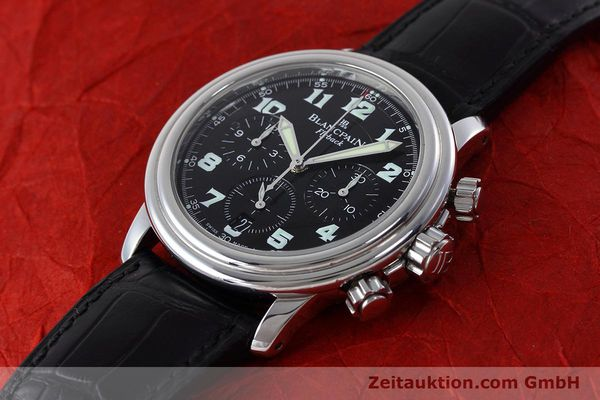 Used luxury watch Blancpain Leman chronograph steel automatic Kal. F185  | 152712 01