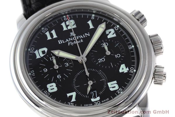 Used luxury watch Blancpain Leman chronograph steel automatic Kal. F185  | 152712 02