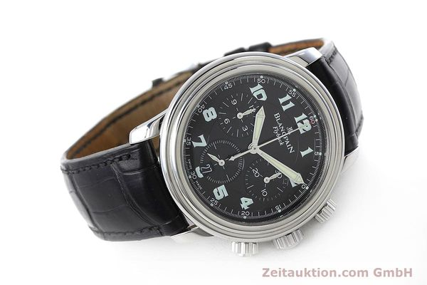 Used luxury watch Blancpain Leman chronograph steel automatic Kal. F185  | 152712 03