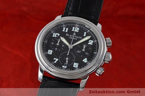 Used luxury watch Blancpain Leman chronograph steel automatic Kal. F185  | 152712 04