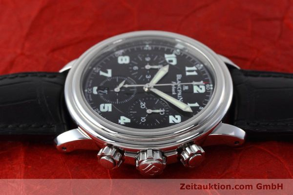 Used luxury watch Blancpain Leman chronograph steel automatic Kal. F185  | 152712 05