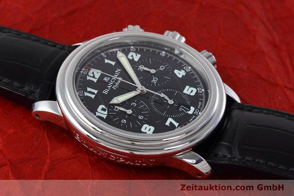 Used luxury watch Blancpain Leman chronograph steel automatic Kal. F185  | 152712 14