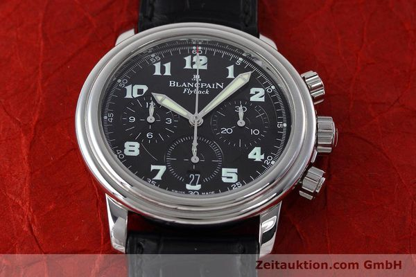 Used luxury watch Blancpain Leman chronograph steel automatic Kal. F185  | 152712 15