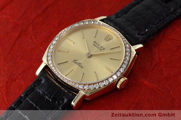 Used luxury watch Rolex Cellini 18 ct gold manual winding Kal. 1600 Ref. 3800  | 152713 01