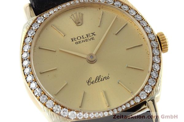 Used luxury watch Rolex Cellini 18 ct gold manual winding Kal. 1600 Ref. 3800  | 152713 02