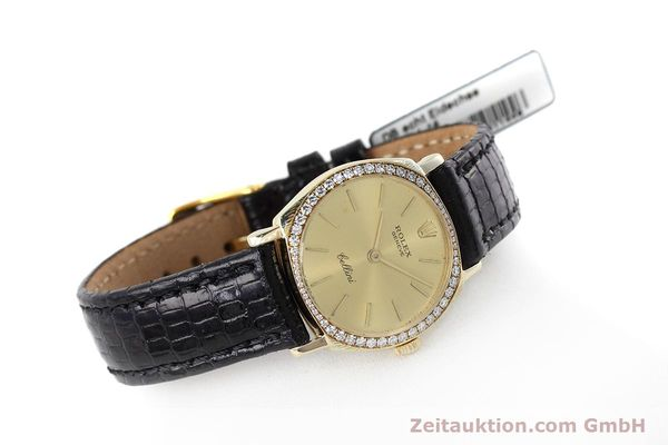 Used luxury watch Rolex Cellini 18 ct gold manual winding Kal. 1600 Ref. 3800  | 152713 03