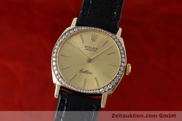 Used luxury watch Rolex Cellini 18 ct gold manual winding Kal. 1600 Ref. 3800  | 152713 04