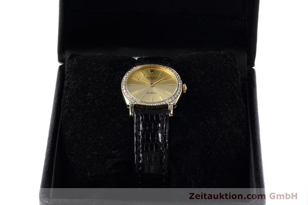 Used luxury watch Rolex Cellini 18 ct gold manual winding Kal. 1600 Ref. 3800  | 152713 07