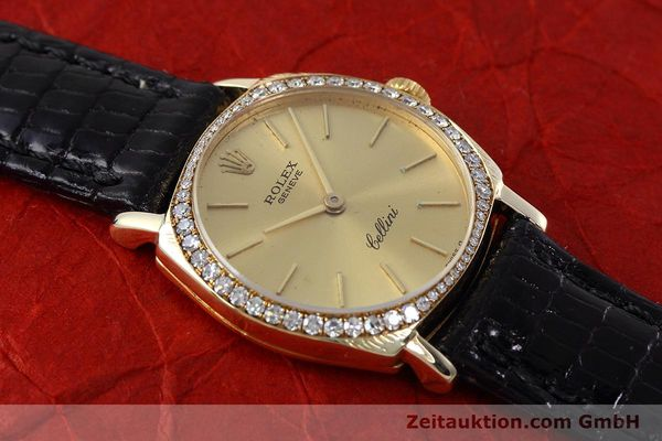 Used luxury watch Rolex Cellini 18 ct gold manual winding Kal. 1600 Ref. 3800  | 152713 13