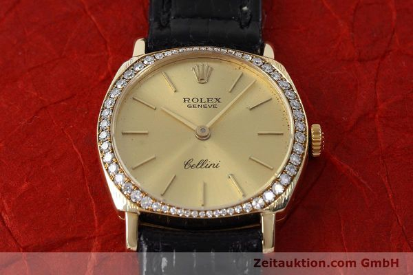 Used luxury watch Rolex Cellini 18 ct gold manual winding Kal. 1600 Ref. 3800  | 152713 14