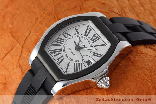 Used luxury watch Cartier Roadster steel automatic Kal. 049 ETA 2892A2 Ref. 3312  | 152716 01