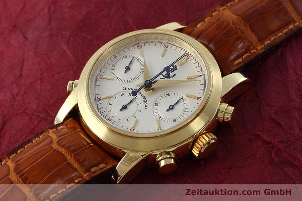 Used luxury watch Girard Perregaux Ferrari chronograph 18 ct gold automatic Kal. 8290 Ref. 9015 LIMITED EDITION | 152720 01