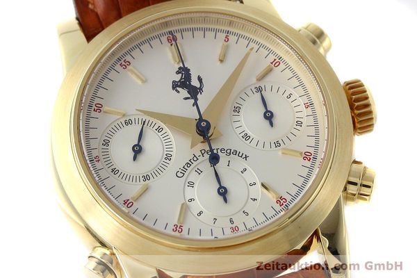 Used luxury watch Girard Perregaux Ferrari chronograph 18 ct gold automatic Kal. 8290 Ref. 9015 LIMITED EDITION | 152720 02