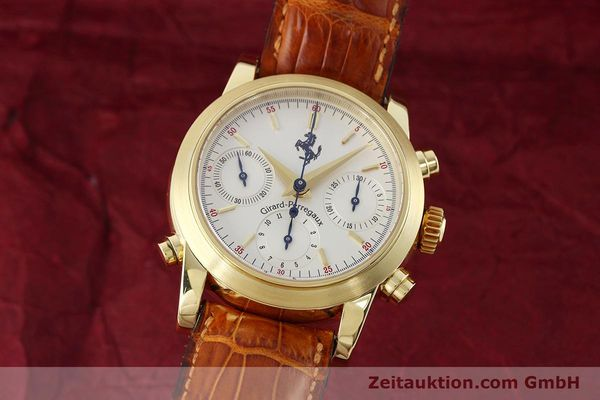 Used luxury watch Girard Perregaux Ferrari chronograph 18 ct gold automatic Kal. 8290 Ref. 9015 LIMITED EDITION | 152720 04