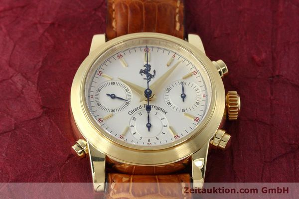 Used luxury watch Girard Perregaux Ferrari chronograph 18 ct gold automatic Kal. 8290 Ref. 9015 LIMITED EDITION | 152720 17