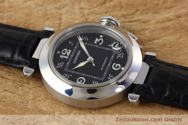 Used luxury watch Cartier Pasha steel automatic Kal. 049 ETA 2892A2 Ref. 2324  | 152733 14