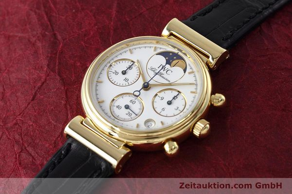 Used luxury watch IWC Da Vinci chronograph 18 ct gold quartz Kal. 630 Ref. 3736  | 152745 01