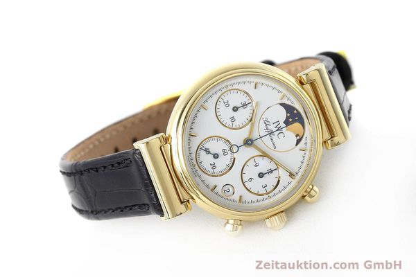 Used luxury watch IWC Da Vinci chronograph 18 ct gold quartz Kal. 630 Ref. 3736  | 152745 03
