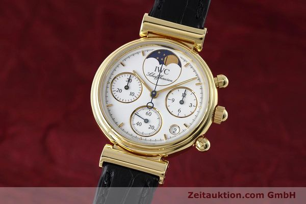 Used luxury watch IWC Da Vinci chronograph 18 ct gold quartz Kal. 630 Ref. 3736  | 152745 04