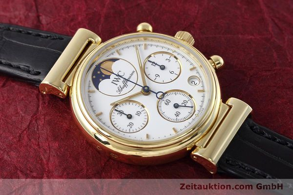 Used luxury watch IWC Da Vinci chronograph 18 ct gold quartz Kal. 630 Ref. 3736  | 152745 14