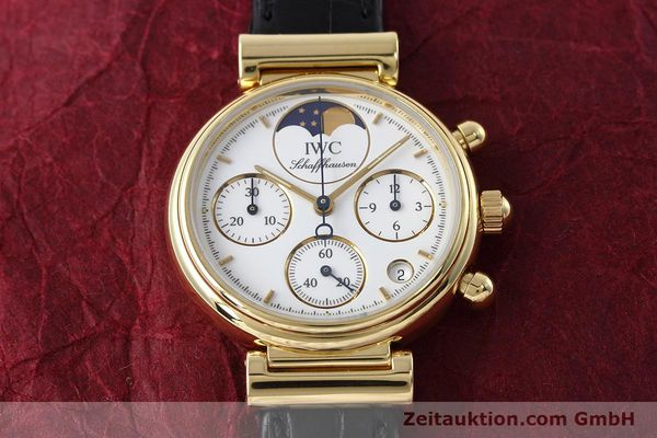 Used luxury watch IWC Da Vinci chronograph 18 ct gold quartz Kal. 630 Ref. 3736  | 152745 15