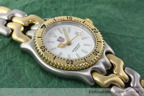 Used luxury watch Tag Heuer Professional steel / gold quartz Kal. 2.95 ETA 956112 Ref. WG1320-2  | 152752 12