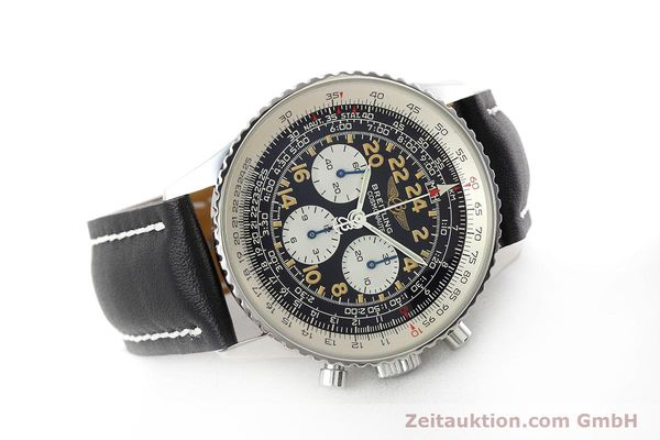 Used luxury watch Breitling Navitimer chronograph steel manual winding Kal. LWO 1324 Ref. A12023  | 152753 03