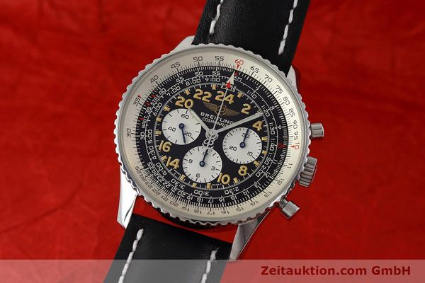 Used luxury watch Breitling Navitimer chronograph steel manual winding Kal. LWO 1324 Ref. A12023  | 152753 04