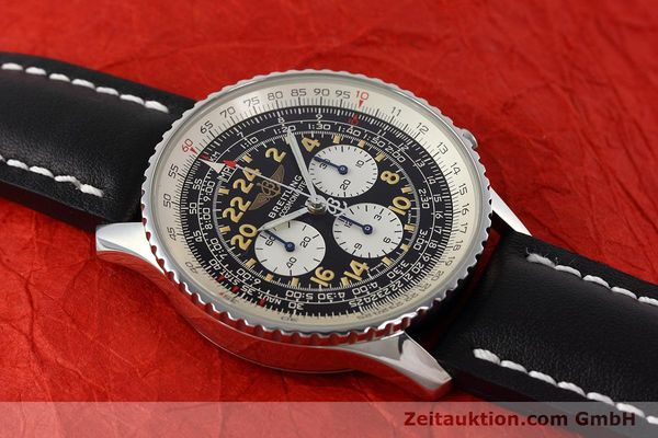 Used luxury watch Breitling Navitimer chronograph steel manual winding Kal. LWO 1324 Ref. A12023  | 152753 12