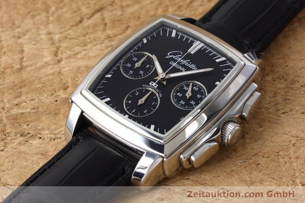 Used luxury watch Glashütte Senator chronograph steel automatic Kal. GUB 39 Ref. 39-31-54-52-04  | 152765 01