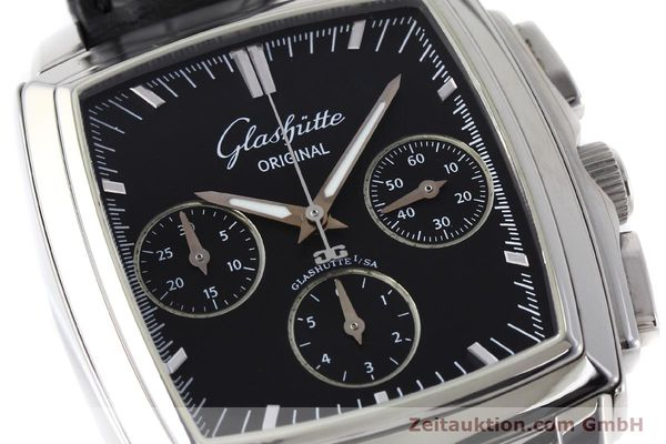 Used luxury watch Glashütte Senator chronograph steel automatic Kal. GUB 39 Ref. 39-31-54-52-04  | 152765 02