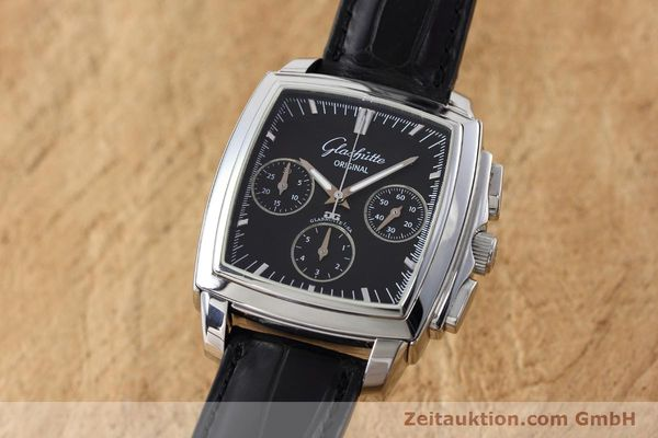 Used luxury watch Glashütte Senator chronograph steel automatic Kal. GUB 39 Ref. 39-31-54-52-04  | 152765 04