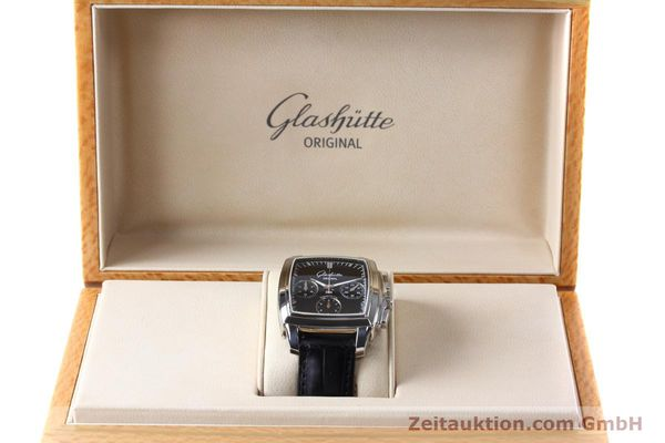 Used luxury watch Glashütte Senator chronograph steel automatic Kal. GUB 39 Ref. 39-31-54-52-04  | 152765 07