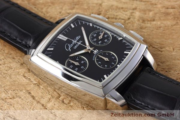 Used luxury watch Glashütte Senator chronograph steel automatic Kal. GUB 39 Ref. 39-31-54-52-04  | 152765 14