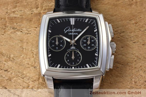Used luxury watch Glashütte Senator chronograph steel automatic Kal. GUB 39 Ref. 39-31-54-52-04  | 152765 15