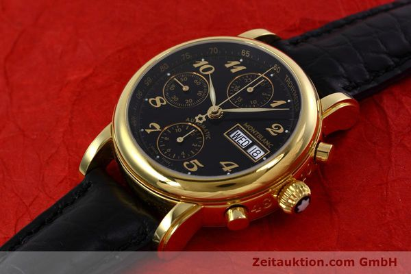 Used luxury watch Montblanc Meisterstück chronograph gold-plated automatic Kal. 4810 501 Ref. 7001  | 152771 01