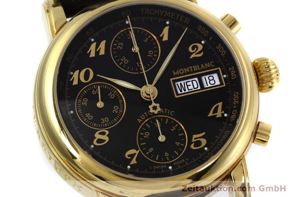 Used luxury watch Montblanc Meisterstück chronograph gold-plated automatic Kal. 4810 501 Ref. 7001  | 152771 02