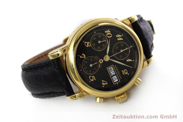 Used luxury watch Montblanc Meisterstück chronograph gold-plated automatic Kal. 4810 501 Ref. 7001  | 152771 03