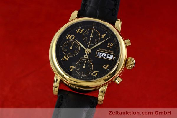 Used luxury watch Montblanc Meisterstück chronograph gold-plated automatic Kal. 4810 501 Ref. 7001  | 152771 04