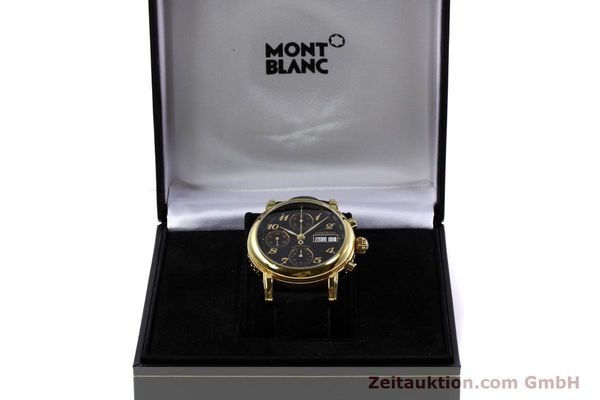 Used luxury watch Montblanc Meisterstück chronograph gold-plated automatic Kal. 4810 501 Ref. 7001  | 152771 07