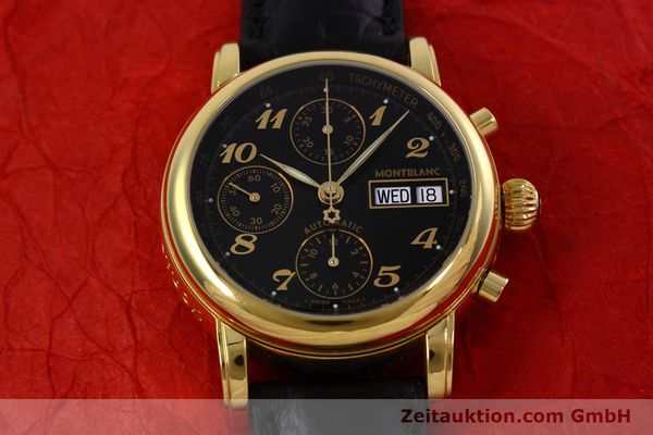 Used luxury watch Montblanc Meisterstück chronograph gold-plated automatic Kal. 4810 501 Ref. 7001  | 152771 16