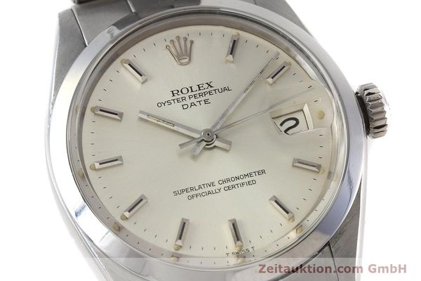 Used luxury watch Rolex Date steel automatic Kal. 1570 Ref. 1500 VINTAGE  | 152785 02