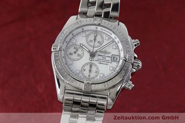 Used luxury watch Breitling Chronomat chronograph steel automatic Kal. B13 ETA 7750 Ref. A13358  | 152795 04