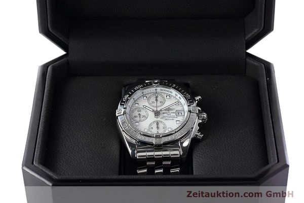 Used luxury watch Breitling Chronomat chronograph steel automatic Kal. B13 ETA 7750 Ref. A13358  | 152795 07