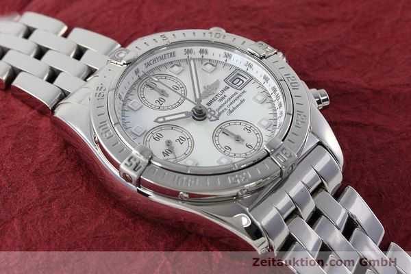 Used luxury watch Breitling Chronomat chronograph steel automatic Kal. B13 ETA 7750 Ref. A13358  | 152795 16
